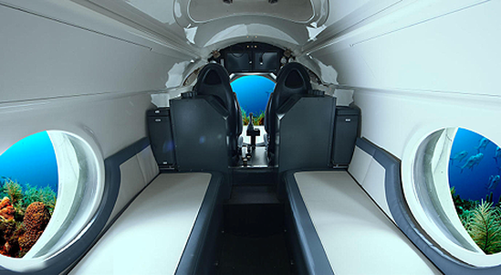 rear interior of luxury sub